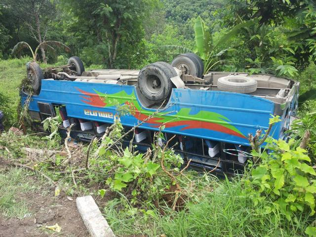 Bus Accident in ghansikuwa , Kamalbari Tanahun